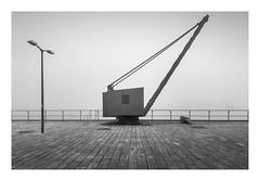 Dockside (richieJ 11) Tags: plymouth victualling yard docks crane mist kingwilliamyard