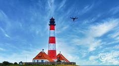 Westerhever Sand (_Pixelbär_) Tags: deutschland nordsee northsea wattenmeer westerhever westerheversand lighthouse leuchtturm mudflat uav drohne drone yunee yuneec typhoon typhoonh hexacopter multicopter copter