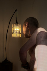 Lit (outersquid) Tags: node naked man body embodiment skin selfie selfportraiture selfportrait light torso belly chest leg legs thigh shoulder arm nipple ear