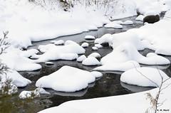 Wet bed (R. M. Marti) Tags: invierno frío agua nieve rocaswinter cold water snow rocks hielo ice congelado frozen