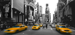 Selective Colour Oldy from NYC (captures.in.time) Tags: nyc newyork newyorkcity urban urbanphotography urbanlandscape city cityphotography travel travelphotography usa ngc speed fast bigapple taxi yellow yellowtaxi skyscraper highrise vertical newyorkvertical 5th 5thavenue timesquare time