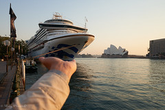 Ouch, this thing is heavy! [Explored] (Roy Prasad) Tags: sydney australia cruise ship water ocean travel prasad royprasad sony a7r a7rm4 opera house