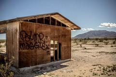 (~filth~filler~) Tags: sony a6300 highdesert california homesteads abandoned abandonedporn graffiti freestyle palmermaggie17 arrow frame broken mountains img07832 29palms twentyninepalms mojave