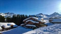 Wonderful Day in Courchevel (gabriel.gallozzi) Tags: winter chalet hiver neve neige snow ski sky clouds