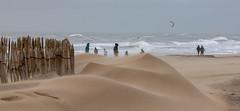 Westerstorm along the coast ... (Photostreamkatwijk) Tags: kitesurfen westerstorm hardewind storm windkracht windstoten regen kust badplaats katwijk beach coast speed weather holland
