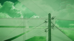 COM[MUTE]ICATION (ⓦeͤ █ iͥ rͬ dͩLiͥ █ G̷̃̊̏̂̓͂̅) Tags: vaporwave manipulation glitch art abstract eclectic photography artwork creepy mono monochrome monochromatic green mint clouds telephone wires exterior outdoors goodbye