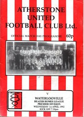 Atherstone United v Waterlooville (Havant & Waterlooville) Tags: havant waterlooville atherstone united southern league football programme