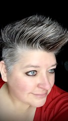 Day 336 of Year 10- hawkin' (Pahz) Tags: 365days selfportrait year10 over40 thisis50 fauxhawk pixiecut