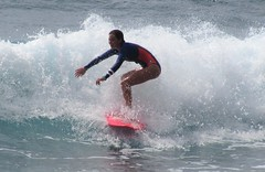 Makaha Beach (thomasgorman1) Tags: locals surfing surfers wave watersports woman island oahu molokai hawaiian beach shore balance surfboard pacific travel surfergirl