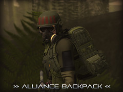 Alliance Backpack (Process Of Elimination) Tags: mainframe cyberpunk military backpack sniper assassin stealth recon anthro human mesh kemono jake second life