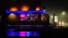 Drive -Thru. (Tim @ Photovisions) Tags: xt2 fog fuji drivethru fujifilm nebraska night color building restaurant beatrice gagecounty