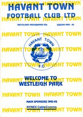 Havant Town v Dunstable (Havant & Waterlooville) Tags: havant waterlooville dunstable southern league football programme