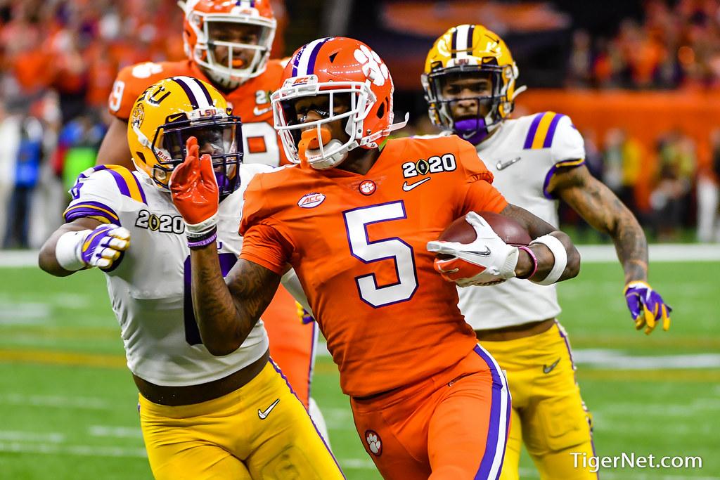 Clemson Photos: Tee  Higgins, 2019, Football, lsu