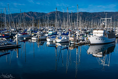 Marina Reflections (Daren Grilley) Tags: 28s 2470 california socal nikon z z6 mirrorless ca sb santa barbara marina harbor harbour boat sailboat mountains sea pacific ocean