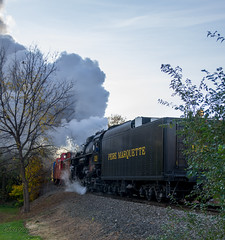 Pere Marquette (Chris (Midland05)) Tags: 1225 michigan pentax pentaxk5 steamengine steamlocomotive steamrailroadinginstitute owosso unitedstates