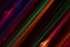 Diagonal Lights (adamopal) Tags: canon canon7d canon7dmkii canon7dmarkii diagonal diagonallights filteradded prismeffect christmaslights lightdrawing longexposure macro macro180mm 180mm black blue red orange purple magenta yellow green