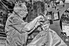 Henry's Haircut (s.w.Lepak) Tags: barbershop haircut barber rayrollin classic
