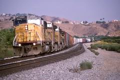 (sd39u1556) Tags: sd60m up unionpacific train california manifest railfan railroad railroading beaumont canyon