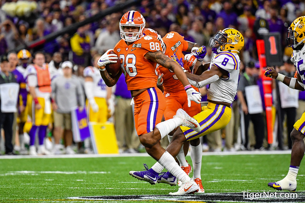 Clemson Photos: Braden  Galloway, Tee  Higgins, 2019, Football, lsu