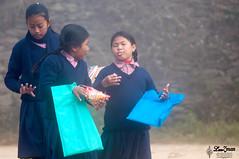~Morning Gossips~ (Lenzmaan) Tags: kids students school uniform morning life nepal nikon