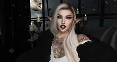 The Truth Of Insight (Ɗєѕѕι Ƭуrαιηα) Tags: secondlife virtual elf elven profile portrait single female woman life insight night moon