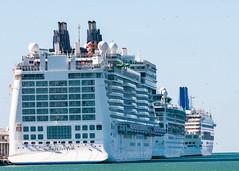 Norwegian Epic Docked - Civitavecchia, italy