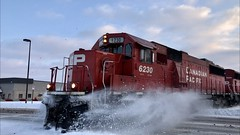 1/15/2020 got CP 6230 leading CP 493 make a small snow explosion on the Minnesota Hinckley Subdivision. Video will be uploaded to the Real Railfan YouTube Channel, stay tuned! (realrailfan1) Tags: snowexplosion train trainsnowexplosion minnesota hinckleysub hinckleysubdivision minnesotahinckleysub minnesotahinckleysubdivision cp6230 canadianpacific cp