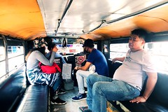 Inside a Philippine jeepney. (studio_juan) Tags: manila commute travel philippines pinoy jeepney