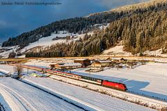 2019.12.28 | 1116 045-4 | Eben in Pongau (Davee91) Tags: ec 163 zürich hbfgraz hbf ebeninpongau taurus es64u2 öbb federal railway austria transalpin 11160454 winter zug trenuri trains passanger traveler