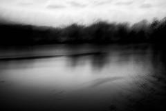 The Fishing Hole no.4 (DavidSenaPhoto) Tags: fujinon35mmf14 pond icm waves multipleexposure monochrome intentionalcameramovement impressionisticphotography water fuji bw xt2 lake blackandwhite fujifilm impressionism
