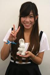 Peace Treaty Ambunssasdor (emotiroi auranaut) Tags: woman lady girl smile smiling bunny rabbit pretty cute beautiful charming female feminine