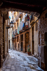 Old laneway in Barcelona's Gothic Quarter (Phil Marion (179 million views - THANKS)) Tags: sunrise sunset dusk fun shadows hdr snow art model feet canon5diii 5d3 canon toronto canada candid architecture street portrait landscape wildlife nature explored bird urban flowers macro insect sony nikon longexposure ontario phil marion philmarion philippemarion explore skyline cityscape home sky water outside beach dog old young indoors travel night smiling