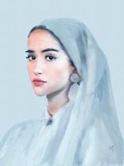 Innocent Spirituality (Pat McDonald) Tags: artrage beauty digitalart guapa guapísima unsplash religious prayer habit