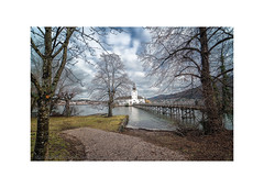 At the Lakes of Salzkammergut (My digital Gallery) Tags: schlosort gmunden upperaustria oberösterreich europe eu castle water wasser traunsee lake see wasserschlos bridge brücke trees bäume himmel blau sky blue clouds white wolken weis salzkammergut
