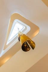 The Golden Triangle II (bjoernahrensfotografie) Tags: munich münchen minimal abstract abstrakt architektur architecture triangle dreieck stairs staircase spiral treppe treppenhaus