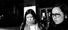 Glance. (Baz 120) Tags: candid candidstreet candidportrait city contrast street streetphoto streetcandid streetportrait strangers rome roma ricohgrii europe women monochrome monotone mono noiretblanc bw blackandwhite urban life portrait people provoke italy italia grittystreetphotography faces decisivemoment
