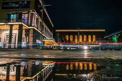 Gothenburg Night (Fredrik Lindedal) Tags: streetview street streetvision streetlight statue puddle reflection reflections teater gothenburg göteborg nikon night nightshot nightlights nightphoto nighshoot lindedal sweden sverige
