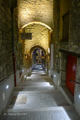 La longue andrône à Sisteron .... (Pascal Duvet) Tags: ngc androne ruelle sisteron perle provence durance rocher baume citadelle crépuscule vue paysage panorama alpes haute 04 pascal duvet