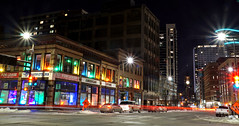 The <3 of the 83A5T (ElectroClown) Tags: minneapolis minnesota stpaul twincities lights color cityscape citylights city colors trails timelapse night nighttime electric exciting sony a77ii alpha a580 a200 winter cold cars starburst
