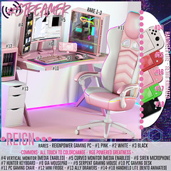 REIGN.- #STREAMER GACHA (REIGN♥) Tags: reign teamreign secondlife event epiphany gacha mesh kenadee kenadeecole kenadeereign streamer twitch streaming gamer gamergirl rgb