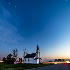 Heaven above (Notkalvin) Tags: heaven church stars star starrysky night longexposure houseofworship notkalvin mikekline outdoors evening aftersunset windturbines lighttrail caseville michigan rural thumb nopeople explore explored flickrexplore thankyou
