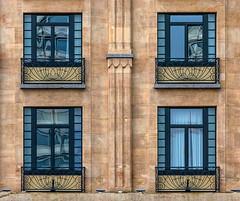 Four...but different (jefvandenhoute) Tags: belgië belgium light lines shapes geometric wall windows