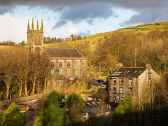 St Chad's and the Church Inn - Uppermill (Craig Hannah) Tags: stchad church churchinn uppermill saddleworth publichouses landscape pennine buildings craighannah january 2020 countryside england traditional westriding oldham greatermanchester yorkshire pub