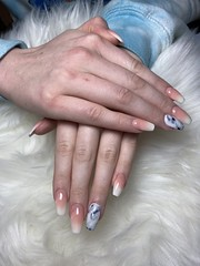 Ombre Marble Acrylic Nails (NailArtsDelafield) Tags: acrylic nails ombre marble fullset fake artificial manicure