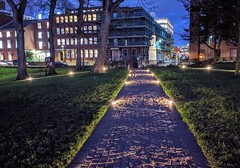 Illuminated path at Winckley Square in Preston (Tony Worrall) Tags: preston lancs lancashire city welovethenorth nw northwest north update place location uk england visit area attraction open stream tour country item greatbritain britain english british gb capture buy stock sell sale outside outdoors caught photo shoot shot picture captured ilobsterit instragram photosofpreston night path lights lit illuminate dark winckleysquare park