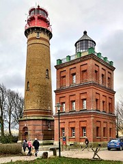 The Kap Arkona lighthouses (ANBerlin [Ondré]) Tags: apple iphone 8plus iphotography anb030 iphonography shotoniphone iphone8 germany island deutschland insel rügen mecklenburgvorpommern leuchturm lighthous meckpomm kaparkona wittow sky nature outside heaven leute outdoor natur himmel gebäude brickwork mauerwerk people's drausen building architecture architektur bauwerk rural landscape landschaft ländlich sea meer pov streetphotography balticsea historical sight ostsee extraordinary historisch sehenswürdigkeit pointofinterest ausergewöhnlich strasenfotografie tower turm museum preusen schinkel prussia abstract abstrakt leaflesstrees blattlosebäume