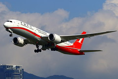 Shanghai Airlines 上海航空 Boeing 787-9 Dreamliner B-20D8 (Manuel Negrerie) Tags: shanghai airlines 上海航空 boeing 7879 dreamliner b20d8 tsa songshanairport 787 aviation wings logo design livery airliners planes flying takeoff flight travel avgeeks spotting clouds engines winglets transport canon china taiwan airport aircraft photography