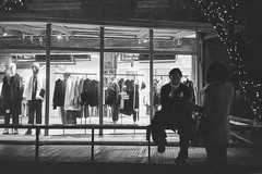 Retail lounging (Taomeister) Tags: neopan400 rollei35s sonnart40mmf28 china