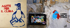 """Agite per il clima"" Dans le vieux Palerme, Sicile, Italie (claude lina) Tags: claudelina italia italie italy sicilia sicile sicily palermo palerme ville town cita tag arturbain streetart"