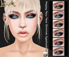 [LeLuck]HappynewYear Shimmer Eyeshadow (Sunkora (taking clients)) Tags: secondlife powderpack powder pack catwa applier january 2020 new leluck